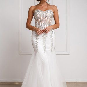Sweetheart Neck Strapless Mermaid Prom Dress AC774